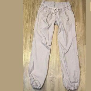 Lululemon Pin Stripe Drawstring Dance Jogger Pants